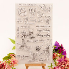 Fairy wishes Clear Stamps Seal for DIY Scrapbooking Card Dog and Cat Rubber Stamps Making Album Photo Crafts Decor New Stamps azsg lovely cat clear stamps seal for diy scrapbooking card making photo album decoration supplies