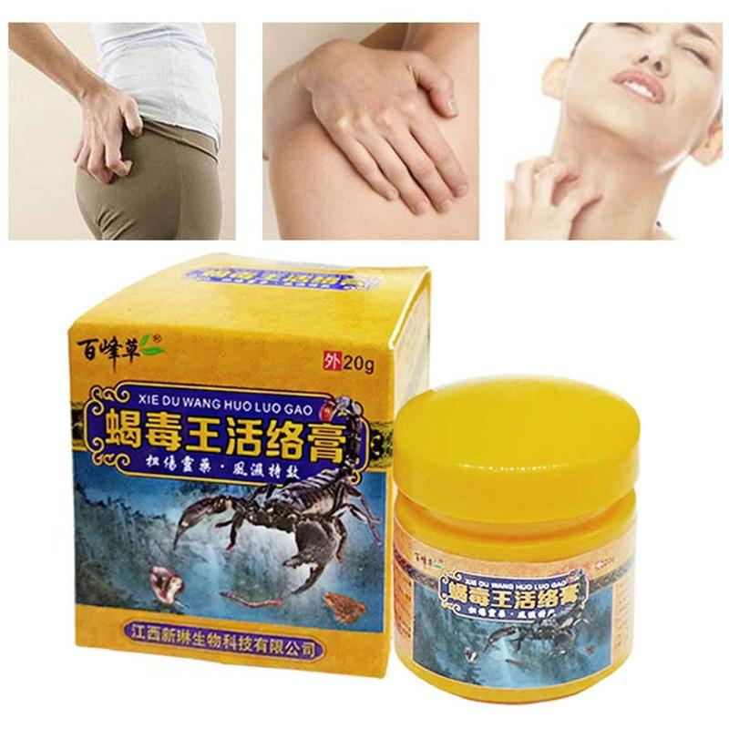 20g Scorpion Herbal Rheumatism Balm Joint Muscle Pain Arthritis Relief Ointment Painkiller Shoulder Activating Cream Plaster