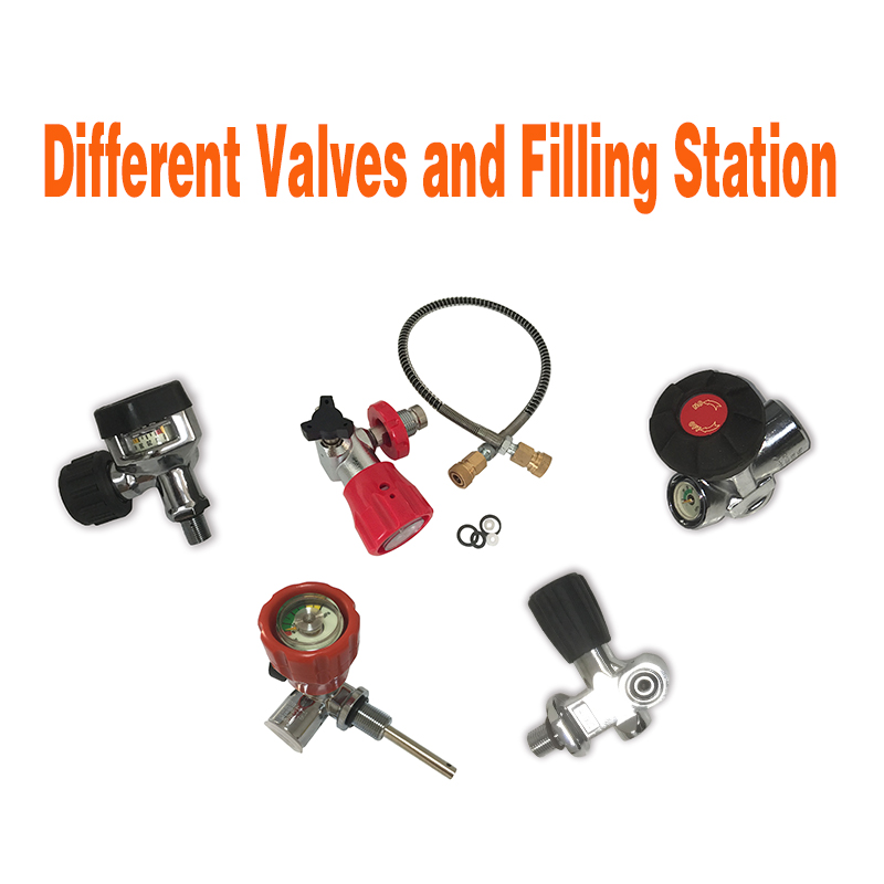 AC9091 Acecare Pcp Valve Filling Station M18*1.5 Thread 4500Psi PCP/HPA Paintball Tank 300Bar Compressed Airforce Condor Rifle