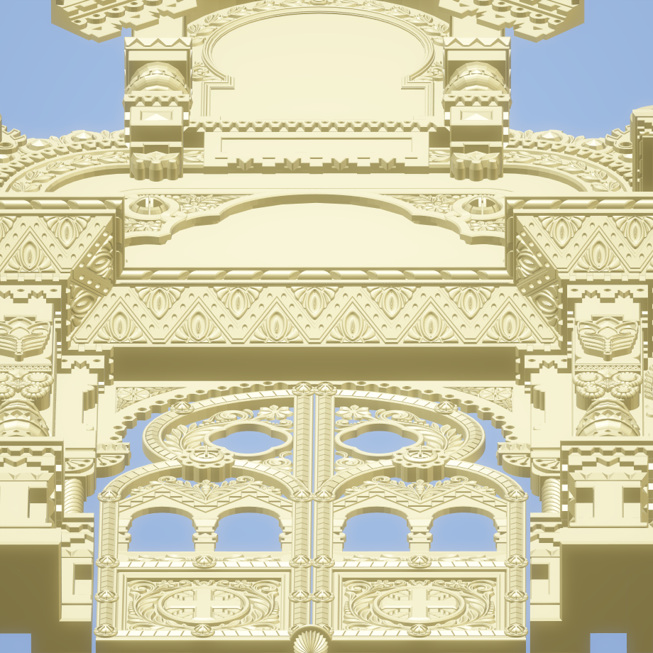 Church Chapel Relief 3D Detailed CNC File For ArtCAM Aspire Woorking Full Scale Orthodox Roman Style File