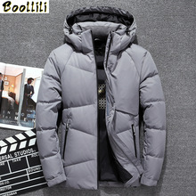 2020 New Hot Brand Long Men #8217 s Down Jacket Winter Down Coat Men Solid Color Thermal Thick White Duck Down Jacket Men Overcoat cheap REGULAR Casual zipper Full Pockets 3D Print Wave Cut Thick (Winter) Broadcloth Acetate Stretch Spandex NONE Polyester
