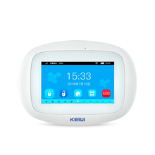 KERUI K52 WIFI GSM Alarm System 4.3 Inch Full Color Touch Display Smart Voice Prompt Home Security Wireless Buglar Alarm System