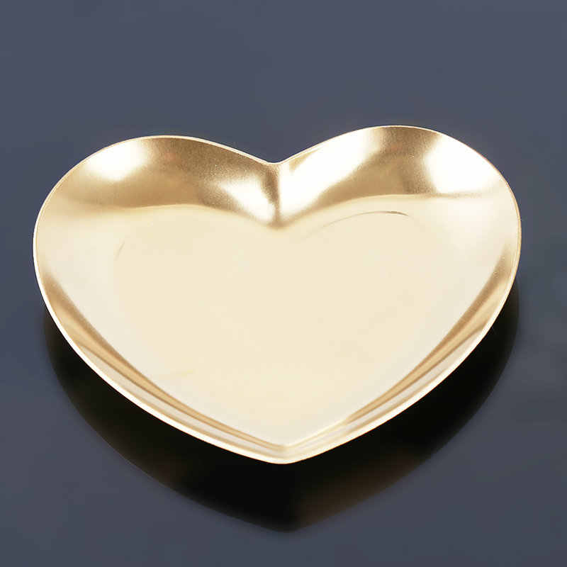 Berbentuk Hati Perhiasan Cincin Penyimpanan Tray Pemegang Rantai Anting-Anting Permen Kacang Organizer Nampan Dekorasi Rumah Penyimpanan Piring