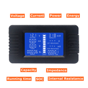 DC Voltmeter Ammeter Power Energy Digital Voltage Current Cap Ohm Hour SOC Meter LCD DC 60-200V 10A/50A/100A/200A/300A Shunt(China)
