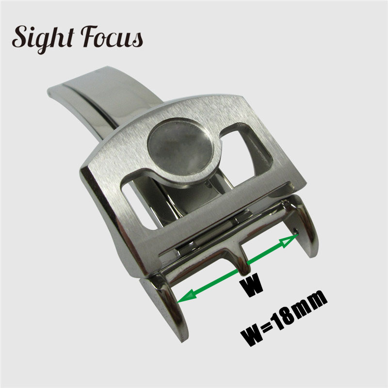 18 мм Нержавеющая сталь ремешок с пряжкой для IWC portugieser хронограф семь дней ремешок для часов аксессуары раскладывающаяся застежка