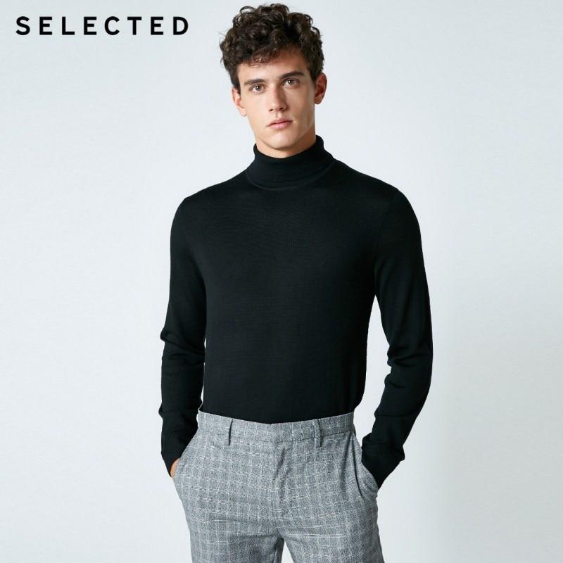 Selected blackrock의 새로운 남성 레저 이탈리아어 100% 울 스웨터 스웨터 s  418424502-에서풀오버부터 남성 의류 의  그룹 1