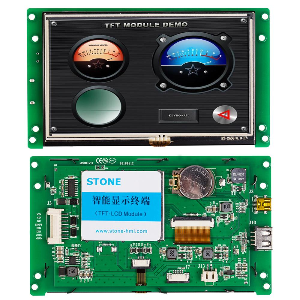 STONE 5.0 Inch HMI TFT LCD Module With RS232/ RS485 /TTL + Controller Board For Industrial Use