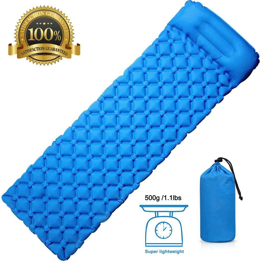 Rooxin Camping Sleeping Pad Inflatable Mattress Air Bed Thickness Camping Mat Cushion for Tent Outdoor Hiking Backpacking Travel