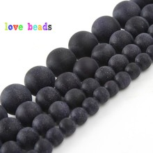 4/6/8/10/12mm Matte Blue Sandstone Round Beads Natural Stone Beads for Jewelry Making DIY Bracelet 15 Perles Minerals Beads 4 6 8 10 12mm matte blue sandstone round beads natural stone beads for jewelry making diy bracelet 15 perles minerals beads