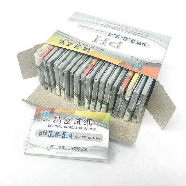 特別なインジケータ紙精密ph試験ストリップ 3.8 5.4 化粧品唾液尿羊水fuid酸 & アルカ試験紙 1600 ストリップ