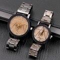 Лидер продаж  роскошные великолепные оригинальные часы для мужчин и женщин  часы для влюбленных  повседневные Модные стальные часы  часы на ...