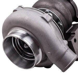 Image 4 - شاحن تربو GT30 GT3037 GT3076R T3.82 A/R 51 مطلي بأجزاء مصقولة GT30 500 + HP T3 شفة شاحن خارجي مبرد للمياه