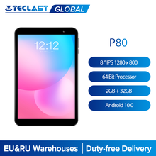Teclast P80 8 ''IPS 1280x800 Tablet Android 10. 0 OS Allwinner A133 CPU GE8300 GPU 2GB RAM 32GB ROM çift Wifi tip-c Tablet PC