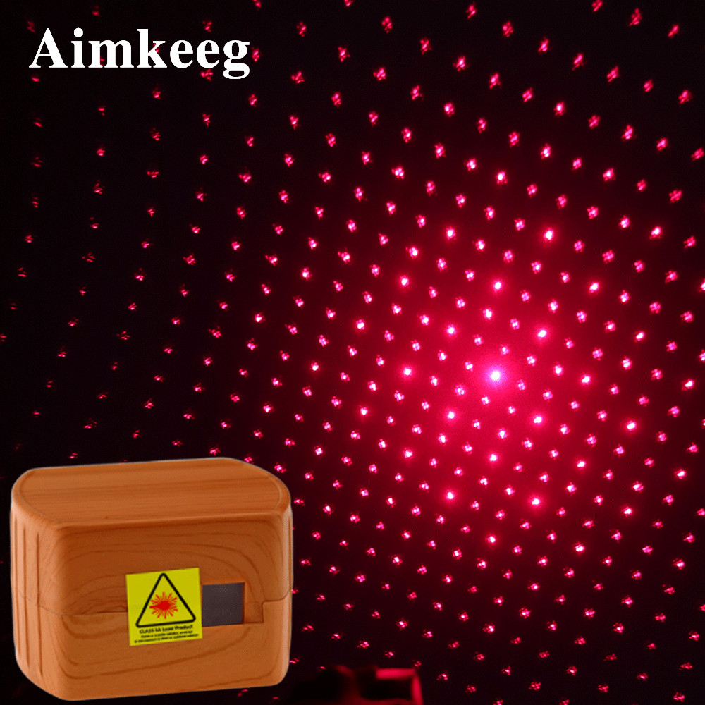 LED Star Laser Projector Light Mini Car Disco Lamp USB Rechargeable 3 Mode Music Control Stage Effect Lights Decoration For Home