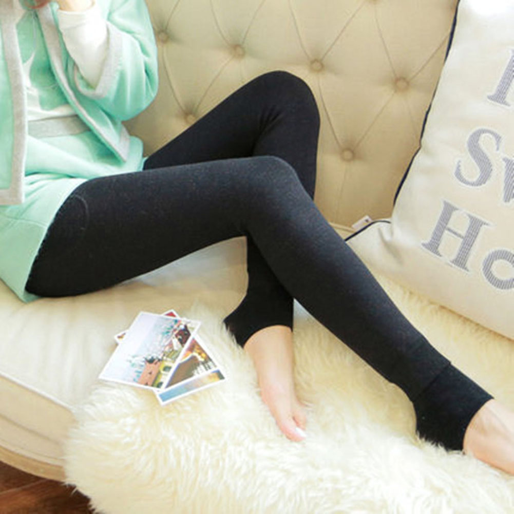 Women Thick Winter Warm Pants High Waist Slimming High Elastic Leggings Cotton Solid Color Leggings  Female Undearwear Pants