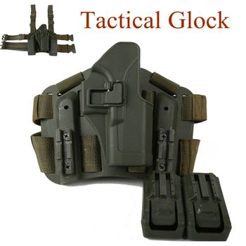 Tactical Glock Accessories Gun Holster Right Hand Military Hunting Shooting Glock 17 19 22 23 31 32 Pistol Belt / Leg Holster unbrand glock 17 18 19 23 32 36 tactical holster