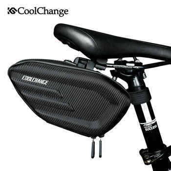 CoolChange Bicycle Saddle Bag Waterproof Bike Rear Bags Shockproof Cycling Rear Seat Tail Bag Reflective MTB Bike Accessories - DISCOUNT ITEM  40% OFF All Category