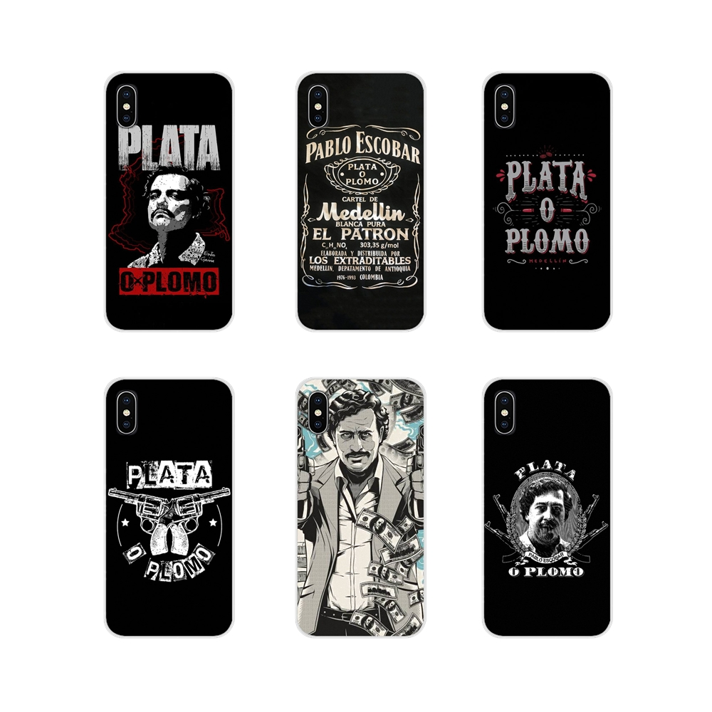 For Samsung A10 A30 A40 A50 A60 A70 M30 Galaxy Note 2 3 4 5 8 9 10 PLUS Narcos Pablo Escobar Silver Or Lead Silicone Cases Cover