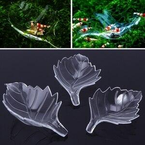 New Arrival Fish Tank Feeder Aquarium Shrimp Acrylic Leaf Shape Food Dish Tray