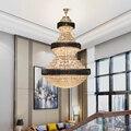 Роскошная большая Хрустальная люстра  освещение для виллы  отеля  лобби  нестандартная Настройка светодиодный светодиодная люстра  проектн...