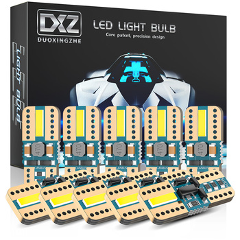 DXZ 10PCS T10 LED Car W5W LED Bulbs Canbus 168 194 6000K White for Car Interior Dome Map Light Parking Lights Non-polar 12V 10pcs car lights t10 led clearance lights w5w parking bulb white 6000k crystal blue 192 168 indoor light 12v car accessories
