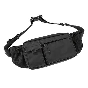 pu leather men waist pack fanny pack bum belt bag high quality zipper waist bag solid chest bag for men men pouch pochetes bolso Waist Bag Fanny Pack for Men Women Belt Bag Pouch Hip Bum Bag Chest Bag with Adjustable Strap, Fanny Pack for Gym