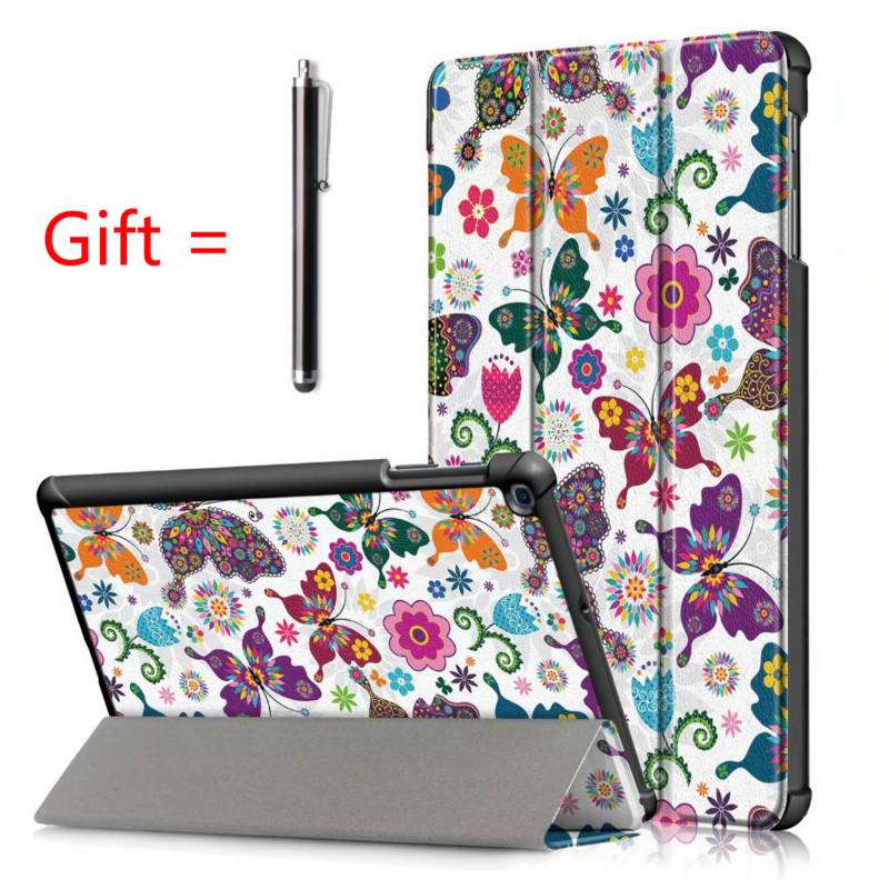 """Magnetic Case for Samsung Galaxy Tab A 2019 10.1""""8""""9.7""""S6 10.5""""S5E/Tab A7 10.4 2020 T500 T510 Case Stand PU Leather Tablet Cover-0"""