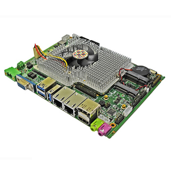 Mainboard 6*COM Intel qm77 fanless Industrial motherboard with intel core i5 2430M processor image