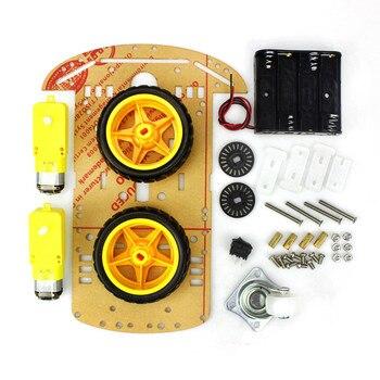 2019 4 / 2WD Robot Smart Car Chassis Kits with Speed Encoder for Arduino 51 M26 DIY Education Robot Smart Car Kit Para crianças estudantes 1