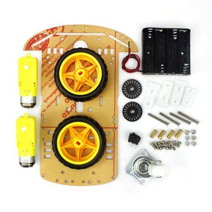2019 4/2WD Robot Smart Car Chassis Kits with Speed Encoder for Arduino 51 M26 DIY Education Robot Smart Car Kit For Student kids