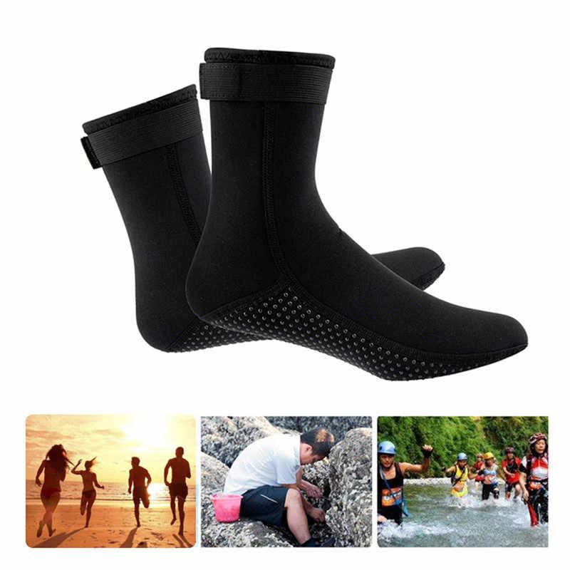 3 مللي متر المضادة للخدش عدم الانزلاق دفئا أحذية الشاطئ بذلة السباحة سميكة الدفء الغوص أحذية الغوص جوارب الغوص اكسسوارات