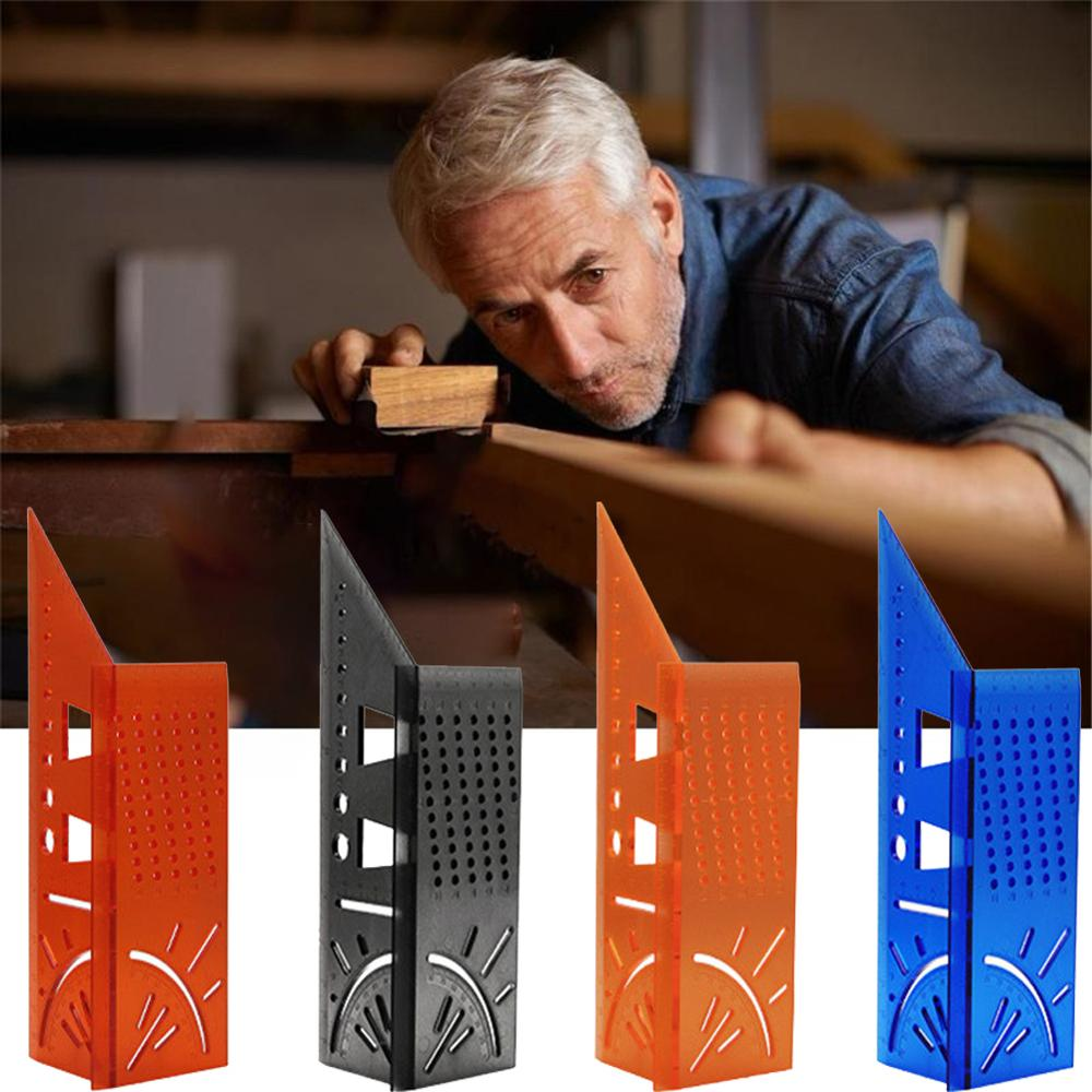 Woodworking Scribe Brand Line Gauge T-Type Ruler Square Layout Miter 90 Degree Gauge Measuring Gauging Carpenter