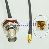 DHL/EMS 20 Sets RG174 Mc-Card pin a BNC jack pin mamparo RF Jumper Cable pigtail 6 pulgadas-C1