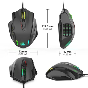 Image 2 - Redragon M908 Wired Laser Gaming Mouse, 12400 DPI, with 19 Programmable Buttons and RGB LED, High Precision for MMO