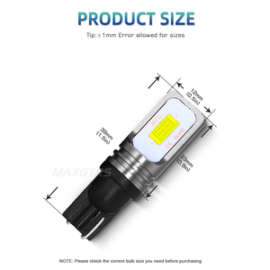 Image 2 - 2x T10 CANBUS No ERROR W5W 168 194 3570 Chip LED 72W Auto Indicator Replacement Light Wedge Parking Bulbs Lamps Car Light Source