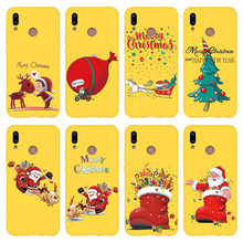 New Year Christmas Santa Claus Case For Huawei Honor 8X 10i 20i View 10 20 9 Lite 9X 7A Pro 7X 7C Play Matte Case Cover Coque(China)