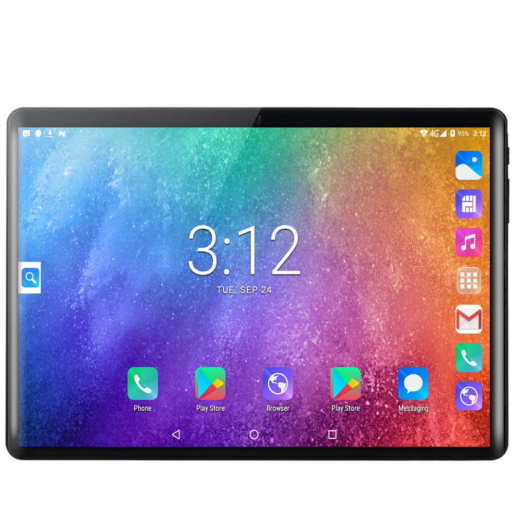 BDF Tablet 10.1 Inch 4G LTE Phone Call Dual SIM Card Android 9.0 Tablet Pc 8GB/128GB Tab 10/Ten Core 1280*800 IPS Pc Tablet 10