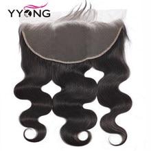 Perruque Lace Frontal wig Remy brésilienne – Yyong, cheveux 100% naturels, 13x4, Swiss Lace Closure, Body Wave, Transparent HD, partie libre