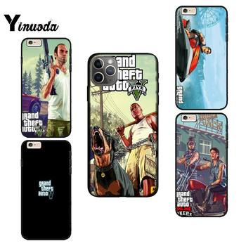 Yinuoda Grand Theft Auto Soft black fundas Phone Case for iPhone 12 8 7 6 6S Plus X XS MAX 5 5S SE XR 11 11 12 pro promax cover image