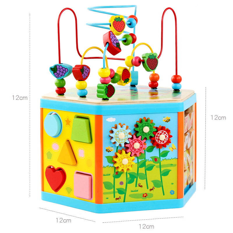 Bead-stringing Toy Intelligence Treasure Chest Children Beaded Bracelet One Year Old Baby Educational Early Childhood Building B