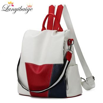 2020 nowy wysokiej jakości skórzany plecak dla kobiet Anti-Theft plecak podróżny duża pojemność torby szkolne dla nastoletnich dziewcząt Mochila tanie i dobre opinie LANYIBAIGE CN (pochodzenie) Poniżej 20 litrów Plecaki moda zipper wytłoczone Boczna kieszeń WOMEN Łukowaty pasek na ramię