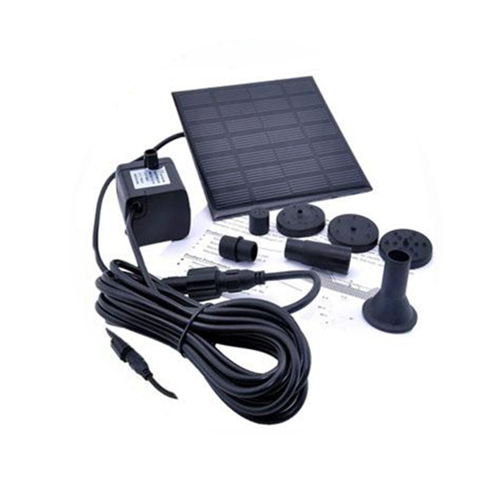 1.2 Watt Solar 12 V Water Pump Fountain Submersible Pump for Outdoor Garden Bath Fish Tank square shape image