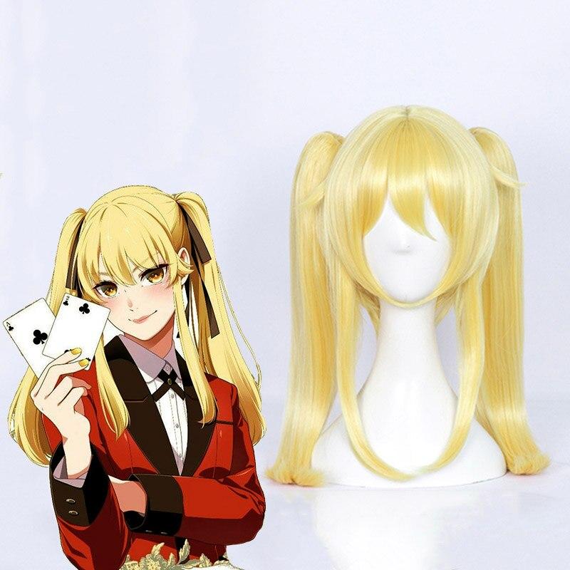 Аниме какегуруи компульсивный гамблер Косплей парики Ririka Momobami Руна Yomozuki Mary Saotome Yumeko Jabami синтетические парики для косплея - Цвет: Mary Saotome