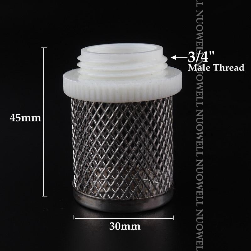 Hf245e834697d4365bd5c9a55bccf1fb9k 2pcs SS304 Net Filter Garden Micro Irrigation Water Pump Protect Hose Mesh Filter Water Clean Screen Durable Mesh Filters