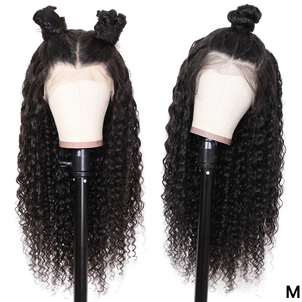 Preplucked Lace Wig Brazilian Deep Wave Lace Front Wig 180 Density Bang Wig Human Hair 13x6 Lace Frontal Wigs For Black Women