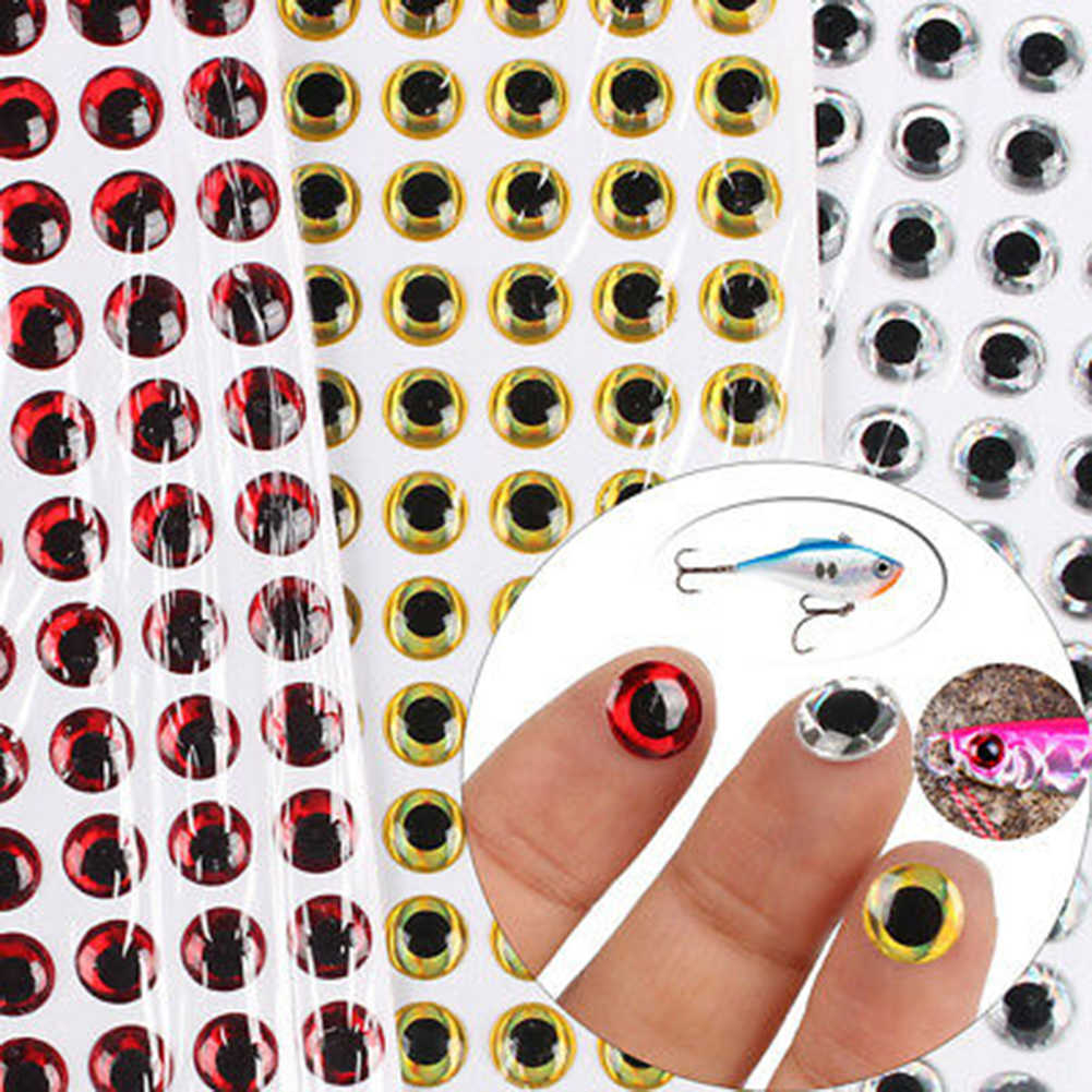 Fish Eyes 3D Holographic Fishing Lure Fly Tying Jigs Crafts Dolls 3//5//7//12mm