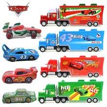 Disney Pixar Тачки 2 Молния Маккуин король цыпленок Hicks F1 Мак дядя грузовик и маленькие игрушки автомобили классический комбинированный наряд