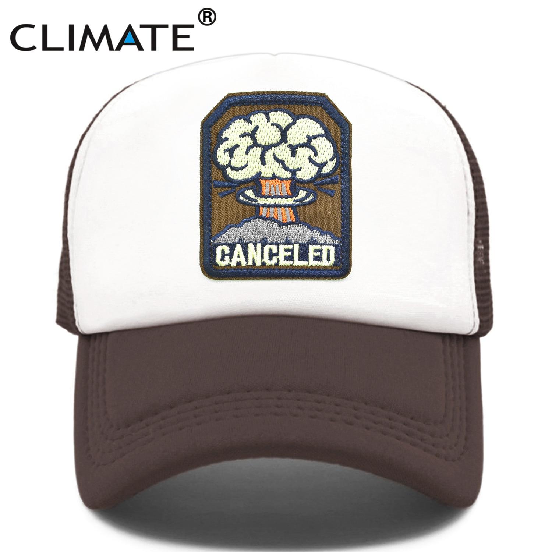 CLIMATE Canceled Mushroom Cloud Cap N-bomb Bomb Nuclear Explosion Trucker Cap Bomb Atomic Cap Nuke Hat Cap Cool Summer Mesh Cap