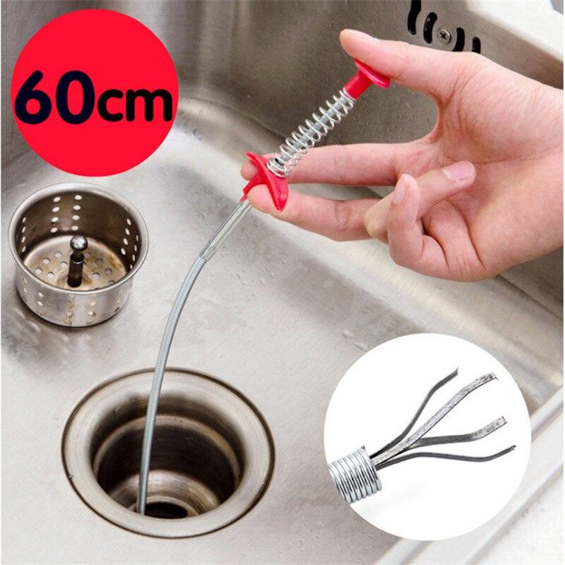 Металлическая проволока для очистки сточных вод палочки засорить жидкость для снятия инструменты для чистки 23,6 дюймовые спиральные трубы ...