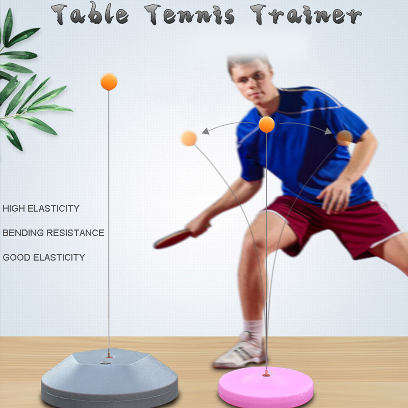Tables Tennis Rebound Trainer Paddle PingPong Training Equipment Rebound Shaft Backbound Machine (small gift)